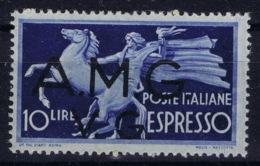 Italy: AMG-VG Sa Espresso 1 Broken G In VG MH/* Flz/ Charniere - Ongebruikt