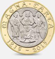 United Kingdom. Coin. 2 Pounds. Magna Card. Magna Carta. Bimetal. 2015 - 1971-… : Decimale Munten