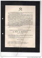 Madeleine Du Roy De Blicquy °Ormeignies 1870 + Watermaal 28/8/1938 BOitsfort Branden De Reeth - Esquela