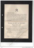 Du Roy De Blicquy Major Cavalerie Léopold 1914-18 °1864 Blicquy + Oudergem 8/7/1927 Poot Baudier De Waha Verhaegen - Esquela