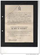 Du Roy De Blicquy Christiane °1899 + 24/3/1925 BOitsfort Van Den Branden De Reeth De BEughem Coppée - Esquela
