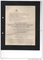 Marie De La Rousselière Clouard Veuf De Robiano °Liège 1842 + 8/3/1917 Bois De Breux De Rohan-Chabot De Meeus D'Henripr - Esquela