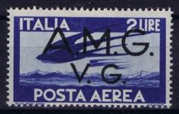 Italy: AMG-VG Sa PA 3 Broken G In AMG MH/* Flz/ Charniere - Ongebruikt