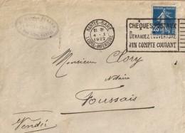 44 . LOIRE ATLANTIQUE . NANTES GARE . OBL. TYPE FLIER . 1922/23  NAN612 - Marcophilie (Lettres)