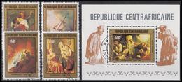 Zentralafrika: Gemälde / Paintings Rembrandt 1981, Satz Und Block O - Sonstige