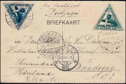 Flugpost Postjager NL - NL-Indien AMSTERDAM-BATAVIA 22.12.33 Nach BANDOENG - Luftpost