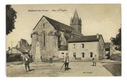 CPA 87 BUJALEUF PLACE DE L'EGLISE - Francia