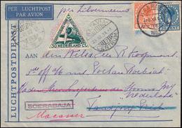 Flugpost ZILVERMEEUW NL - NL-Indien Brief HAARLEM 16.12.33 Nach SOERABAJA 23.12. - Luftpost