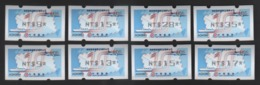 2019 Taiwan R.O.CHINA -10th Anni. Of The Cross-strait Direct Mail Services Comm. #106(black Imprint Set Of Eight) - ATM - Frama (labels)