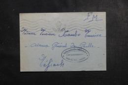 FRANCE - Enveloppe En FM Du Camp Des Pins De Bayonne Pour Néfiac En 1945 - L 44853 - Marcophilie (Lettres)