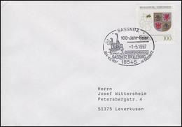 1661 Mecklenburg-Vorpommern, EF Brief SSt Sassnitz Postdampferlinie 1.5.1997 - Schiffe