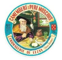 ETIQUETTE De FROMAGE..CAMEMBERT Du PERE MOSCHUS..Fromagerie De LEZAY ( Deux Sèvres 79) - Fromage