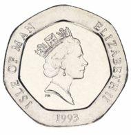 Isle Of Man 20 Pence 1993 AU-UNC - Regional Coins