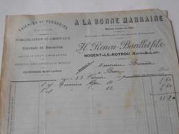 28 Eure & Loir , NOGENT Le ROTROU , A LA BONNE MARRAINE , RENOU BARILLET FILS - - Textile & Clothing