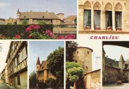 42. CPM. Loire. Charlieu. Son Abbaye Et Ses Maisons à Colombages (6 Vues) - Charlieu