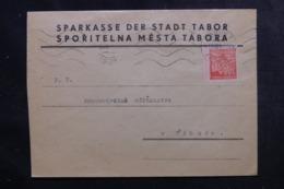 BOHÊME ET MORAVIE - Enveloppe Commerciale De Tabor En Port Local En 1942 - L 44864 - Lettres & Documents