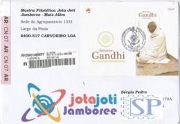 Portugal 2019 150 Anos Mahatma Gandhi Timbre Khadi Scout Scoutisme Scouting Escutismo Escuteiros Jamboree Baden Powell - Mahatma Gandhi