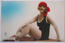 Meer Frau Mode Bademode Ca.1920  - Cartes Postales