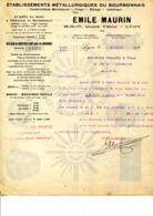 69. LYON.ETABLISSEMENTS METALLURGIQUES DU BOURBONNAIS.EMILE MAURIN 16 COURS VITTON. - Unclassified