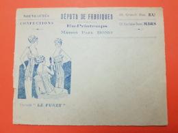 Eu - Mers Lès Bains - Seine Martime - Somme - Maison Paul Homo - Enveloppe Illustrée - Corset Le Furet - Marcofilie (Brieven)
