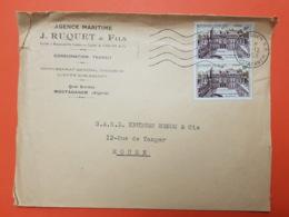 Algérie - Mostaganem - 3/12/1958 - Agence Maritime J. Ruquet - Lloyd's Sub-agency - Marcofilie (Brieven)