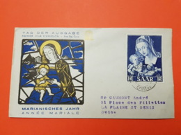 Sarre - Premier Jour - 14/8/1954 - Sarrebruck - Saarbrücken - Vierge Marie à L'enfant Jésus - N°333 - FDC