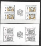 O-205-CZECHOSLOVAKIA 1987 -GALERIA -CAT.MICHEL  NUMMER  TL 2928-9 MNH** - Blocks & Sheetlets