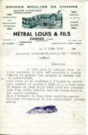 38.ISERE.GRANDS MOULINS DE CHANAS.METRAL LOUIS & FILS.FACTURETTE. - France
