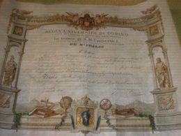 DIPLOMA DI LAUREA REGIA UNIVERSITA' DI TORINO 1888 - Diplomi E Pagelle