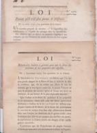 Révolution Française Bulletin Des Lois 1792 Lot De 2 Documents Originaux Liste Commissaires Assemblée Danton Clavière - Documents Historiques