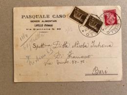 LAVELLO (POTENZA) PASQUALE CASO  GENERI ALIMENTARI  1937 - Potenza