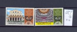 MAURITIUS -  385/6  Theater  Kompl. Postfrisch - Maurice (1968-...)