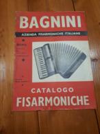 1950 BAGNINI ROMA - CATALOGO ILLUSTRATO FISARMONICHE CON LISTINO - MACCHIE UMIDO - Instruments De Musique