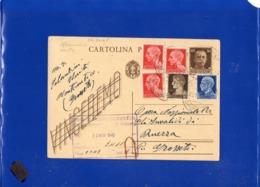 ##(DAN1910)-28-11-1945-Cartolina Postale Vinceremo Cent 30 Da Monte Antico (Grosseto) Per Grosseto, Affrancatura Mista - Storia Postale