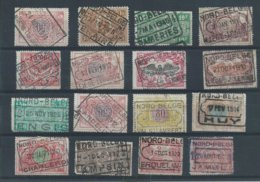 Lotje Spoorwegzegels Met NORD-BELGE-stempels - Chemins De Fer