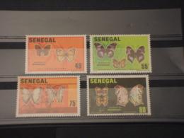 SENEGAL - 1982 FARFALLE 4 VALORI - NUOVI(++) - Senegal (1960-...)