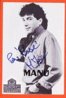 Wes041 Autographe-Dédicace MANU MAMBO Chanteur NUIT VAUDOU 1970s Photo Mme PUJOS OPTICA TOULOUSE - Chanteurs & Musiciens