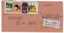 M572 Bhutan Lettre Recommandée  Registered Letter Thimphu To Phuntsholing - Bhutan