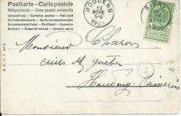 Fantasiekaart Met OCB 56 - Afstempeling SIVRY - COBA 4 - 1893-1907 Wappen