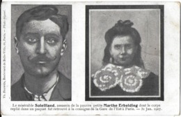 PARIS 75 SEINE FAIT DIVERS MACABRE ASSASSINAT SOLEILLAND ASSASSIN PETITE MARTHE ERBELDING  31/01/1907 - Frankrijk