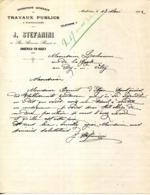 01.AIN.AMBERIEU EN BUGEY.ENTREPRISE DE TRAVAUX PUBLICS.J.STEFANINI 10 RUE ALEXANDRE BERARD. - Old Professions