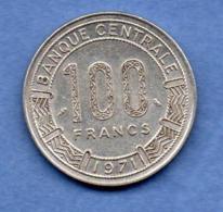 Congo  -  100 Francs 1971  -  état  TTB+ - Congo (République 1960)