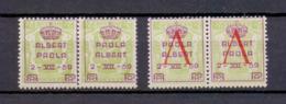 PR 129/132KP Kopstaande Opdrukken POSTFRIS**  1959 - Belgium