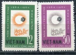 VIETNAM NORTH 1964 296-297 International Quiet Solar Year - Astronomy