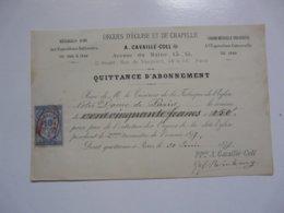 VIEUX PAPIERS - DOCUMENTS : Reçu De Mr Le Trésorier De NOTRE DAME De PARIS Pour L'entretien Des ORGUES - 1800 – 1899