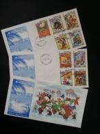 Anguilla Walt Disney Dicken's Christmas Stories 1983 Mickey Mouse Cartoon Animation (FDC Set) - Anguilla (1968-...)