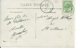 Fantasiekaart Met OCB 83 - Afstempeling TOURNAI  / ERE Type 2 - COBA 8 - 1893-1907 Armoiries