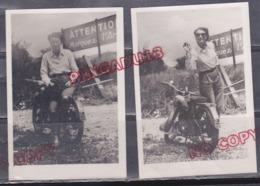 Au Plus Rapide Madame Et Sa Moto Moto Ancienne Beau Format 7 Par 10 Cm - Automobiles