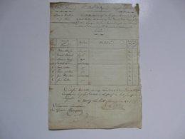 VIEUX PAPIERS - DOCUMENTS : 1er Bataillon De Sapeurs - Contrôle Nominatif Des Officiers Et Ouvriers Du Génie - ... - 1799