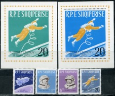 "Albania 1965 941-944 + Bl.29-30. Flight Of The Spacecraft ""Voskhod-2"". The First Spacewalk Of A. Leonov - Albania"